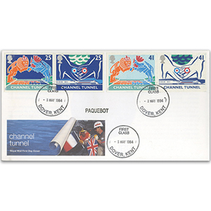 1994 Channel Tunnel- Royal Mail - Dover cds+paquebot