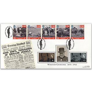 1994 D-Day 50th - Winston Churchill Special Cover