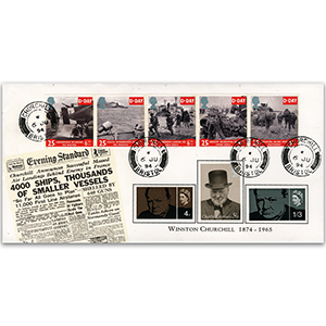 1994 D-Day Churchill CDS, Special Cover