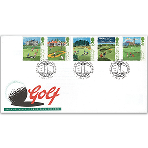 1994 Golf - Royal Mail FDC - Turnberry FDI