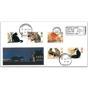 1995 Cats Royal Mail - Please Control Your Dog, Colchester slogan