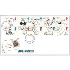 1996 Greetings: Cartoons - Royal Mail Cover - Bureau, Edinburgh