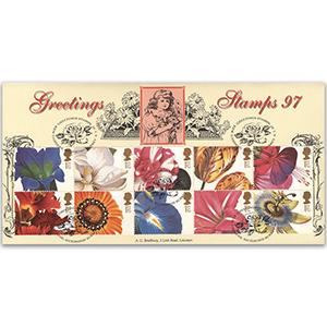 1997 Greetings Stamps: Flower Paintings - Kew Gardens Handstamp