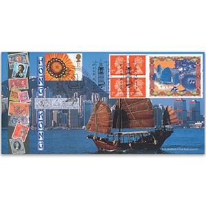 1997 Farewell Hong Kong Label - Big Ben Handstamp - Doubled