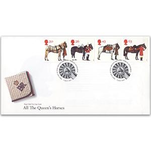 1997 All The Queen's Horses - Royal Mail Cover - Bureau, Edinburgh