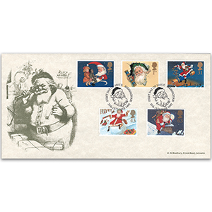1997 Christmas Bradbury Father Christmas special