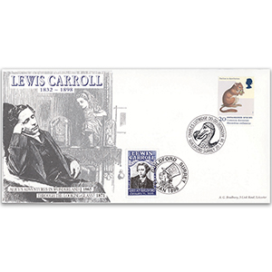 1998 Endangered Species - Dormouse - Guildford Handstamp for Death of Lewis Carroll