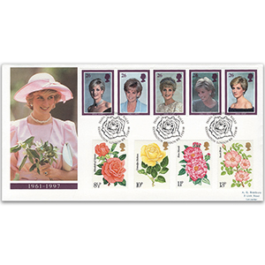 1998 Princess Diana 'In Memoriam' - Plus 1976 Roses - Kensington Handstamp