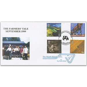 1999 Farmers' Tale, Ashford Stamp Shop Official - North School h/s