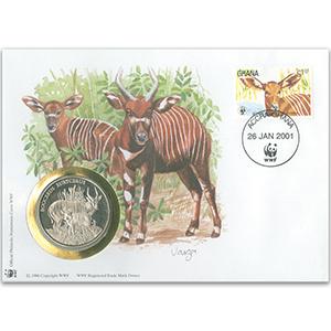 2001 Ghana - Bongo WWF Medal Cover