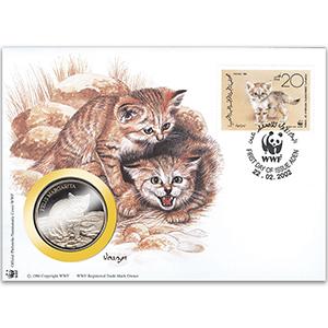 2002 Yemen - Sandcat WWF Medal Cover