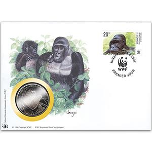 2002 Congo - Grauer's Gorilla WWF Medal Cover