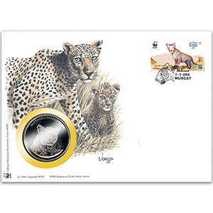 2004 Oman - Arabian Leopard WWF Medal Cover