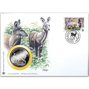 2004 Afghanistan - Musk Deer WWF Medal Cover