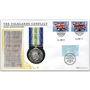 2007 Falklands Conflict 25th - South Atlantic Medal Cover