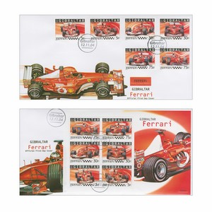 2004 Gibraltar Ferrari - Pair of Covers
