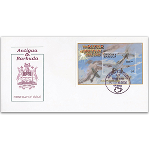 First Day Cover - Battle of Britain 60th Anniversary 2000 - Miniature Sheet - Antigua & Barbuda