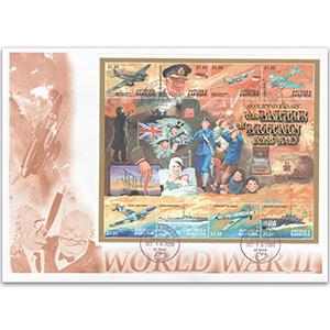 2000 Antigua & Barbuda - Battle Of Britain 60th - 8v Sheetlet Cover