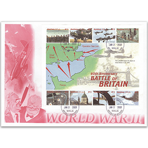 First Day Cover - Battle of Britain 60th Anniversary 2000 - Miniature Sheet - Maldives