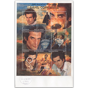 1995 Guyana - David Copperfield 9v Sheetlet First Day Cover