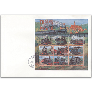 1995 First Day Cover - Trains of the World - Tanzania