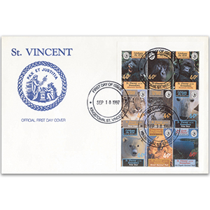 First Day Cover - Stamps. 1997 St Vincent & The Grenadines 'Celebrate the Wild'