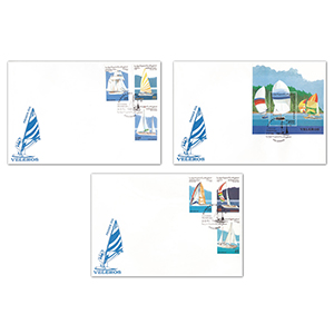 1996 Stamp Covers Sahara Set Of 3 Maritime Covers