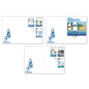 1996 Stamp Covers Sahara Set Of 3 Maritime Covers