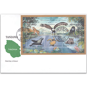 1998 Stamp Covers Tanzania - Endangered Species