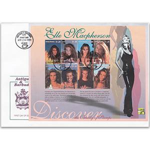1999 Stamp Cover Antigua & Barbuda - Elle Macpherson