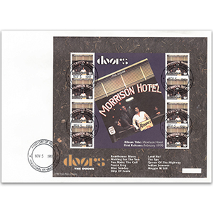 1997 St Vincent & The Grenadines - The Doors Album 'Morrison Hotel' Sheetlet of 8