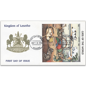 1998 First Day Cover - Cats of The World - Lesotho