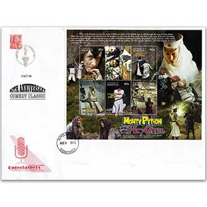 First Day Cover - Monty Python and the Holy Grail40th Anniversary 2000 - Miniature Sheet - Dominica