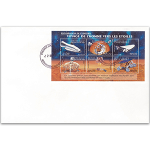 2000 First Day Cover - Space Exploration - Sheetlet - Madagascar