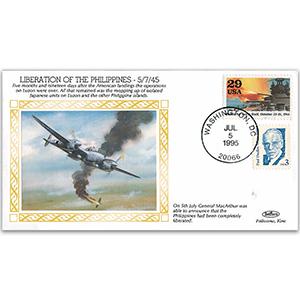 1945 Liberation of the Philippines - Washington DC Handstamp