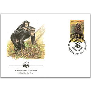 1983 Sierra Leone - Chimpanzee WWF Cover