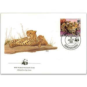 1984 Upper Volta - Leopard WWF Cover