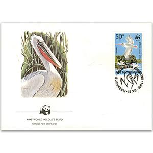 1987 Romania - Dalmatian Pelican WWF Cover