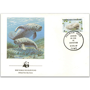 1987 Togo Republic - West African Manatee WWF Cover