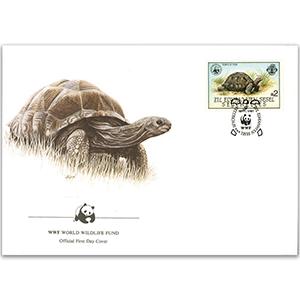 1987 Seychelles - Aldabra Tortoise WWF Cover