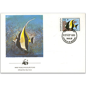 1986 Maldives - Moorish Idol WWF Cover