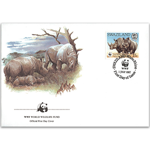 1987 Swaziland - White Rhino WWF Cover