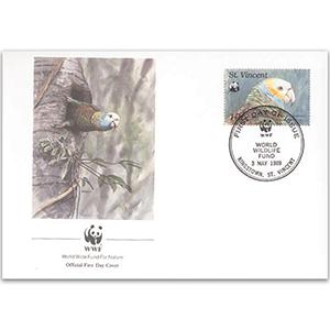 1989 St. Vincent - Parrot WWF Cover
