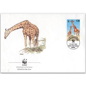 1989 Kenya - Giraffe WWF Cover
