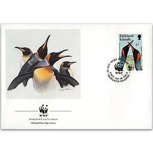1991 Falkland Islands - King Penguin WWF Cover