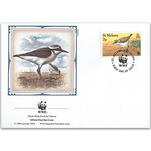 1993 St. Helena - Wirebird WWF Cover