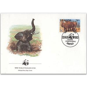 1983 Uganda - African Elephant WWF Cover