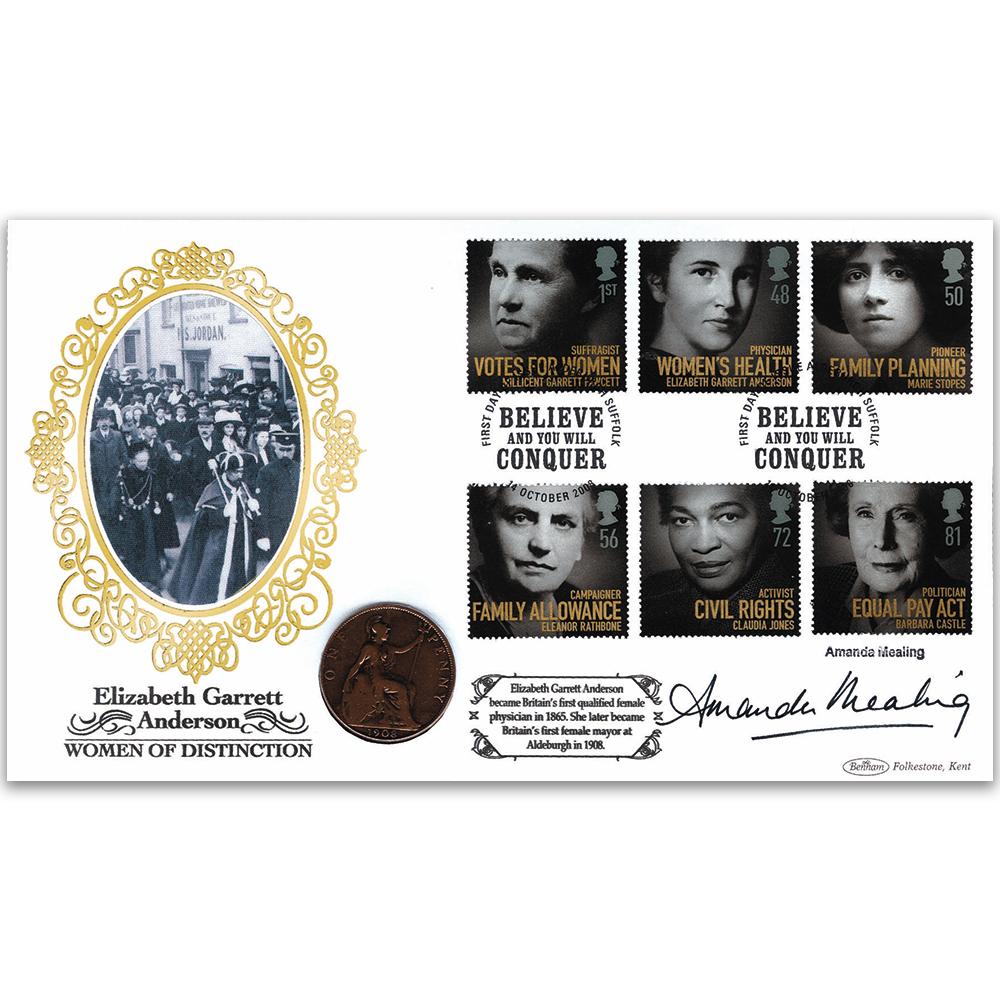 Amanda Mealing Actress 2008 women of distinction coin cover signed amanda mealing