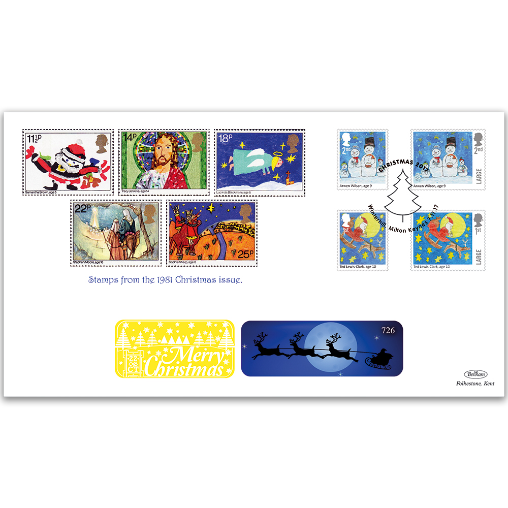 2017 childrens christmas stamps gold 500 alternative image