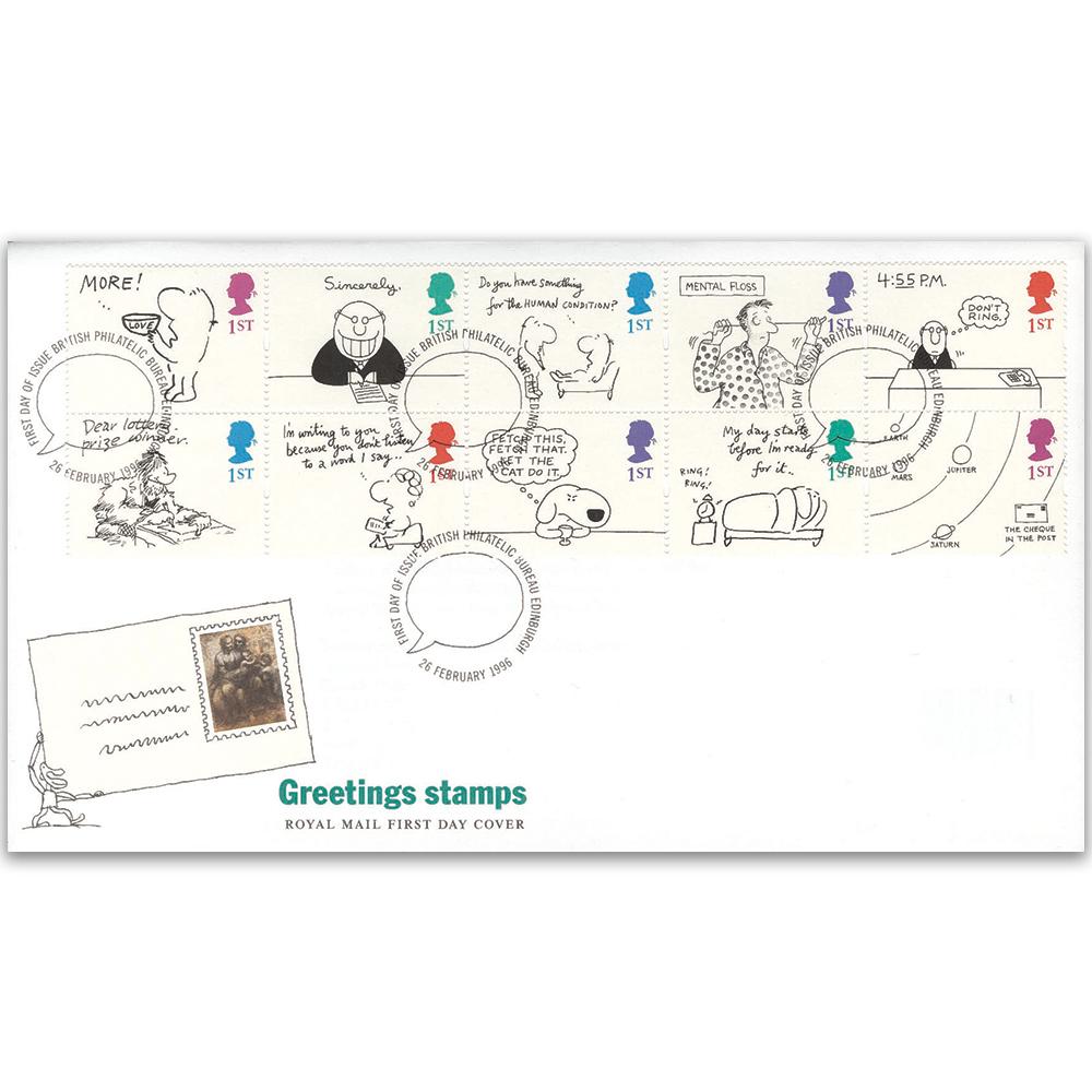 1996 greetings cartoons royal mail cover bureau edinburgh alternative image m4hsunfo
